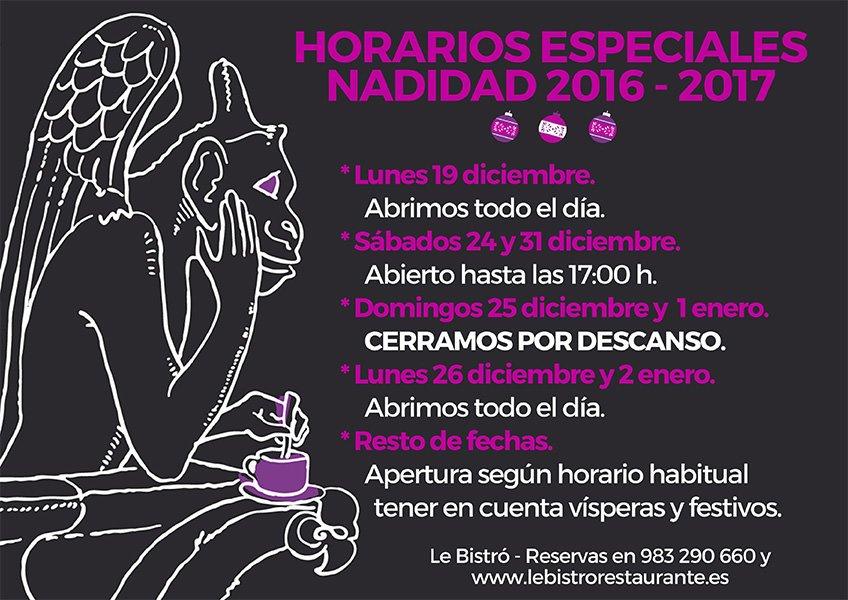 horarios-especiales-navidad-2016-restaurante-le-bistro-valladolid